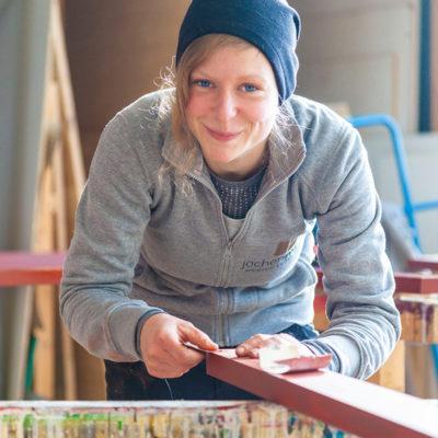 Werkstattleiterin Anne Lendzian