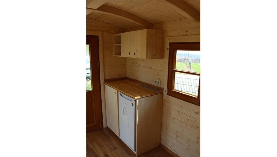 Küchenzeile eines Lagerwagens