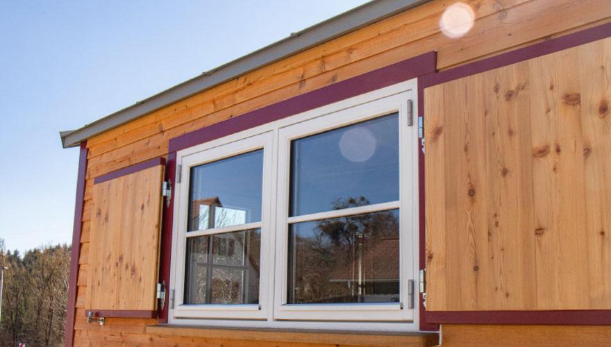 Fenster eines Tiny House