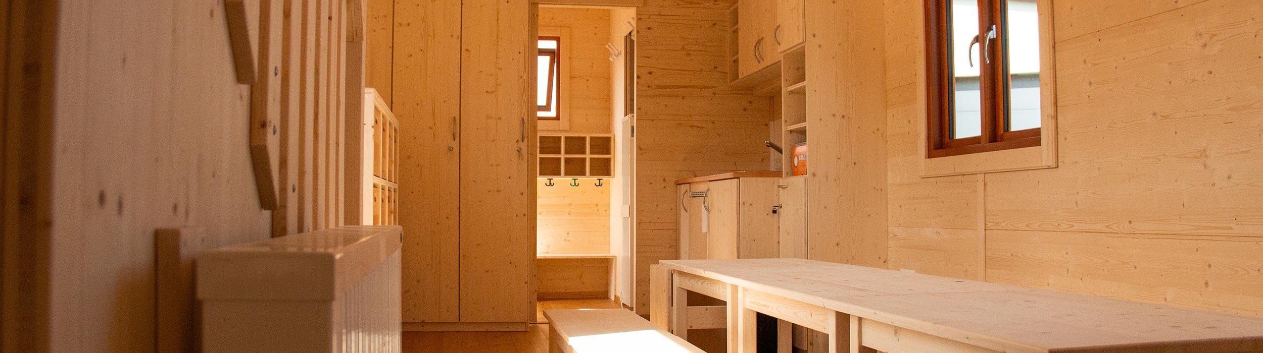 Tiny House innen mit Einrichtung